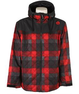 Sessions Backcountry Plaid Snowboard Jacket Red Plaid