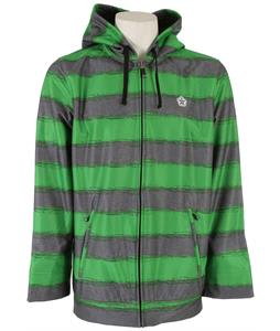 Sessions Backstage Softshell Green Heather Stripe