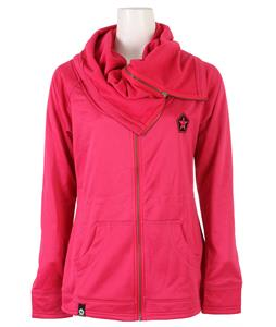 Sessions Cowl Zip Up Hoodie Pink