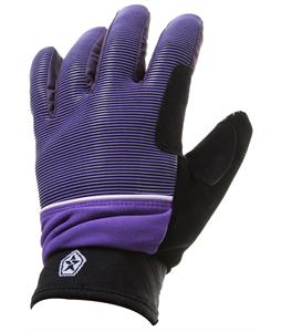 Sessions Dazed Gloves Purple Mini Stripe