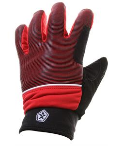 Sessions Dazed Gloves Red Mini Stripe