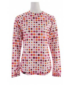 Sessions Diffusion Ditz First Layer Crew Top Pop Pink Dots