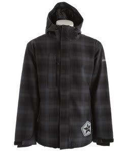 Sessions Evolution Plaid Snowboard Jacket Black Plaid