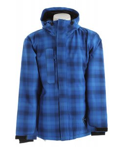 Sessions Evolution Plaid Snowboard Jacket Blue Plaid