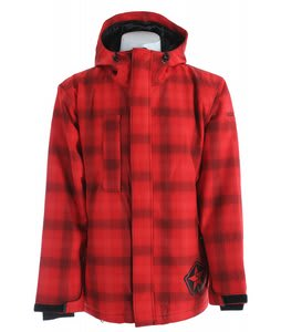 Sessions Evolution Plaid Snowboard Jacket Red Plaid