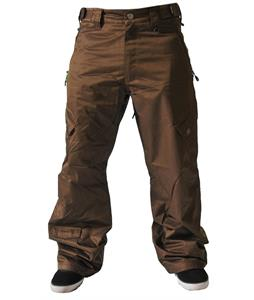 Sessions Gridlock Shell Snowboard Pants Brown