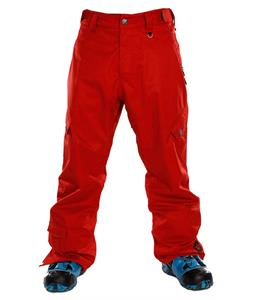 Sessions Gridlock Shell Snowboard Pants Red