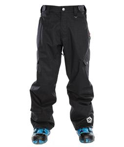 Sessions Gridlock Slub Snowboard Pants Black