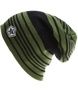 Sessions Heather Stripe Beanie Olive Heather Stripe