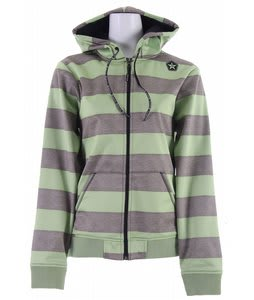 Sessions Iso Heather Stripe Softshell Snowboard Jacket Sage Heather Stripe