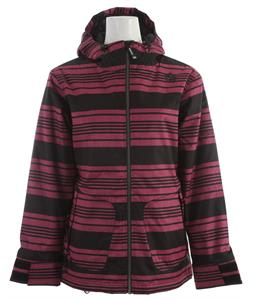 Sessions Jane Heather Stripe Snowboard Jacket Pink Heather Stripe