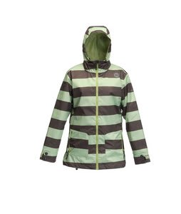 Sessions Jane Heather Stripe Snowboard Jacket Sage Heather Stripe