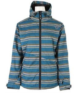 Sessions Janet Stripe Snowboard Jacket Blue Heather Stripe