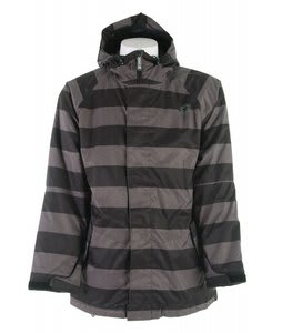 Sessions Kreuger Heather Stripe Snowboard Jacket Black Heather Stripe