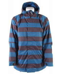 Sessions Kreuger Heather Stripe Snowboard Jacket Blue Heather Stripe