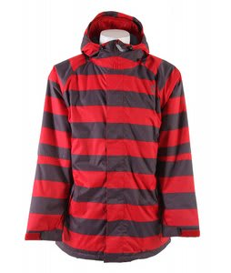 Sessions Kreuger Heather Stripe Snowboard Heather Stripe Jacket Red Heather Stripe