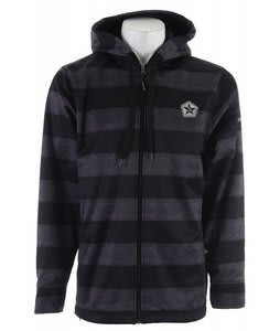Sessions Kreuger Stripe Softshell Snowboard Jacket Black Heather Stripe