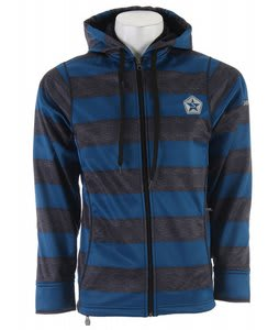 Sessions Kreuger Stripe Softshell Snowboard Jacket Blue Heather Stripe