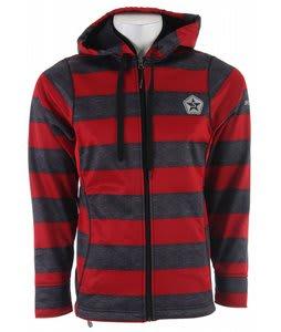 Sessions Kreuger Stripe Softshell Snowboard Jacket Red Heather Stripe