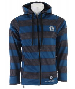 Sessions Kreuger Stripe Skullcandy Softshell Snowboard Jacket Blue Heather Stripe