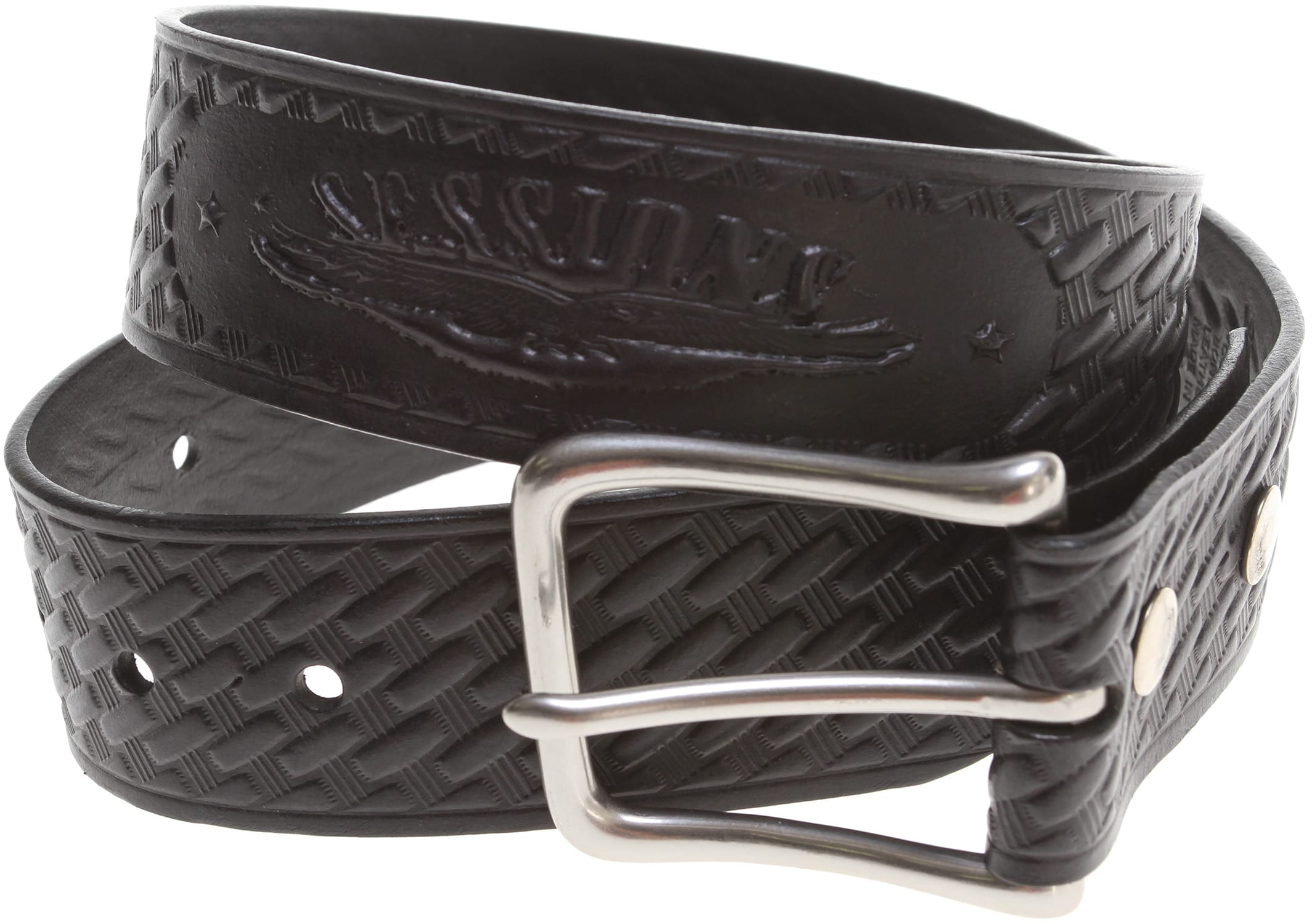 on sale sessions pattern leather belt up to 55