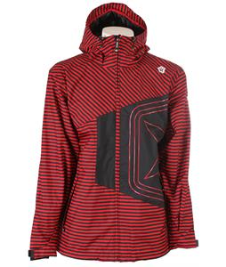 Sessions Truth Mini Stripe Shell Snowboard Jacket Red Mini Stripe