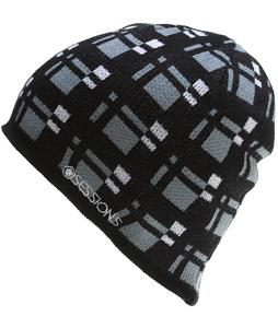 Sessions Plaid Beanie Black Plaid
