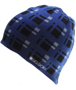 Sessions Plaid Beanie Blue Plaid