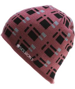 Sessions Plaid Beanie Mauve Plaid