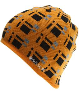 Sessions Plaid Beanie Orange Plaid