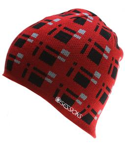 Sessions Plaid Beanie Red Plaid