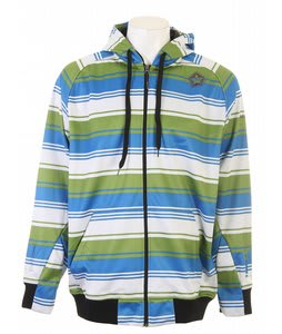 Sessions Retro Stripe Softshell Jacket Lime Retro Stripe