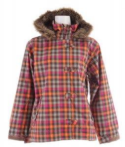 Sessions Spinner Snowboard Jacket Pop Pink VI Plaid