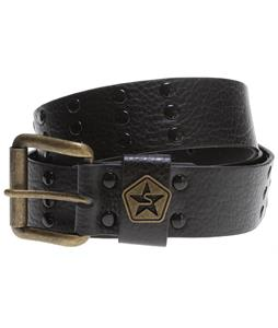 Sessions Leather Stud Belt Black