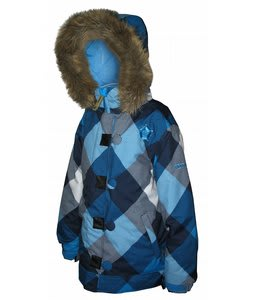 Sessions Sweetie Snowboard Jacket Vivid Blue Aston Plaid