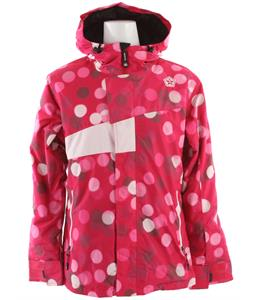 Sessions Swift Dots Snowboard Jacket Pink Dots