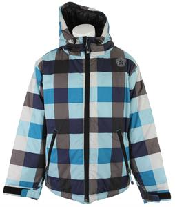 Sessions Switch Check Snowboard Jacket Blue Check