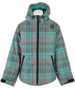 Sessions Switch Plaid Snowboard Jacket Aqua Plaid