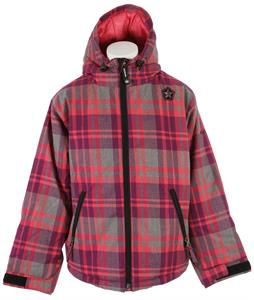 Sessions Switch Plaid Snowboard Jacket Pink