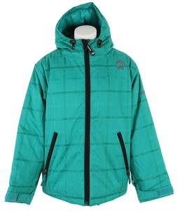 Sessions Switch Plaid Weave Snowboard Jacket Aqua Plaid Weave