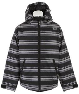Sessions Switch Stripe Snowboard Jacket Black Heather Stripe