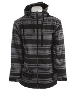 Sessions Tech Star Heather Snowboard Jacket Grey Heather Stripe
