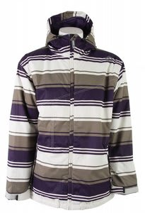 Sessions Truth Retro Stripe Snowboard Jacket Purple Retro Stripe