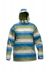Sessions Truth Retro Stripe Snowboard Jacket