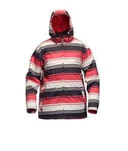 Sessions Truth Retro Stripe Jacket Red Retro Stripe