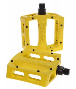 The Shadow Conspiracy Ravager Alloy Loose Ball Bike Pedals Yellow 9/16