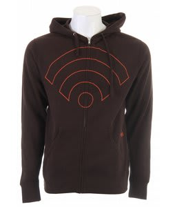 Signal Logo Zip Hoodie Chocolate