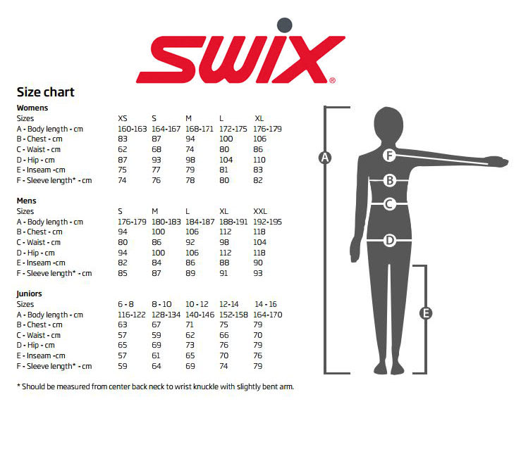 Swix Sizing Chart