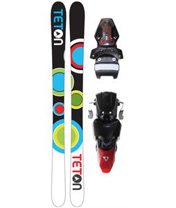 Teton Floater Rocker V2 Skis w/ Fischer X 13 Ski Bindings Black/Red