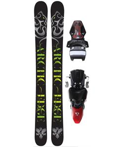Arctic Edge Tempo TT1 Camrock Skis w/ Fischer X 13 Ski Bindings Black/Red